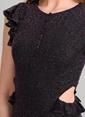 Agenda Bel Detaylı Elbise Siyah